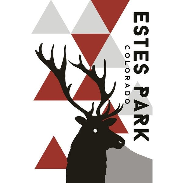 Shop Estes Park Colorado Elk Triangles Lantern Press Artwork Art Print Multiple Sizes Available Overstock 27144602
