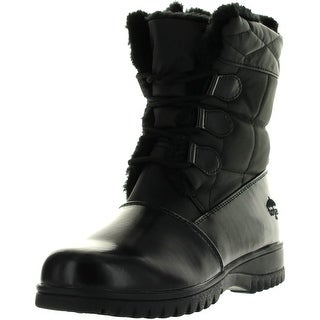 Totes Womens Karla Winter Waterproof Snow Boots - Black