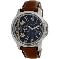 Fossil Men's Grant  Silver Leather Automatic Dress Watch