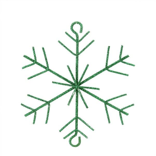 "5"" Emerald Green Glittered Christmas Build-a-Garland Snowflake"