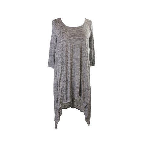 Studio M Grey Space-Dye Jersey Sharbite Tunic XS