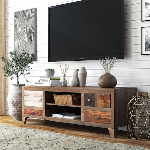 Furniture of America Rudd Solid Wood 4-Drawer TV Stand