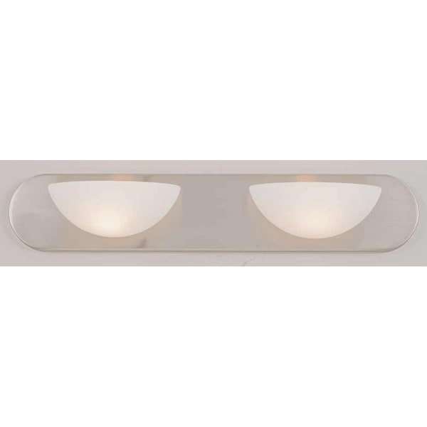"Volume Lighting V1092 2 Light 24"" Width Bathroom Vanity Light - Brushed nickel"