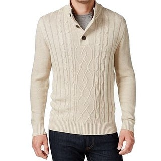 Tricots St. Raphael NEW Beige Mens Size Small S Cable Knit Sweater