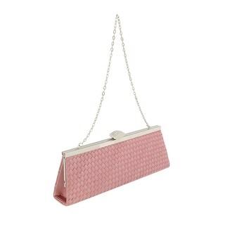 Scheilan Rose Fabric Weave Clutch/Shoulder Bag
