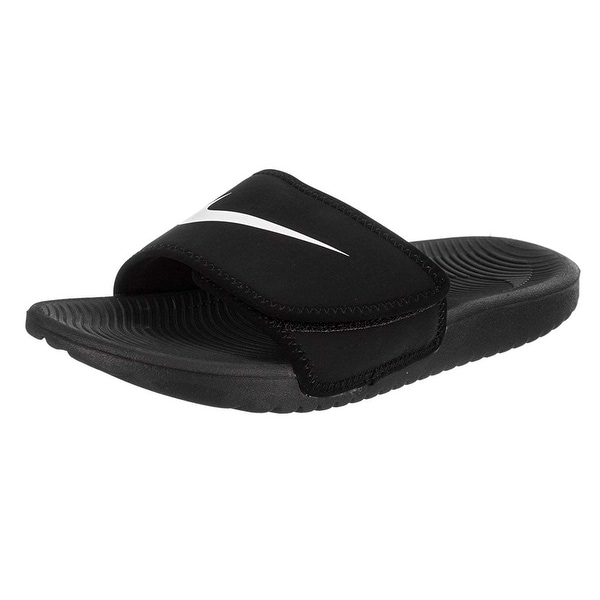 62f80d414a0cc Shop Nike Boy s Kawa Adjust Slide Sandal (Gs Ps) Black White Size 13 ...
