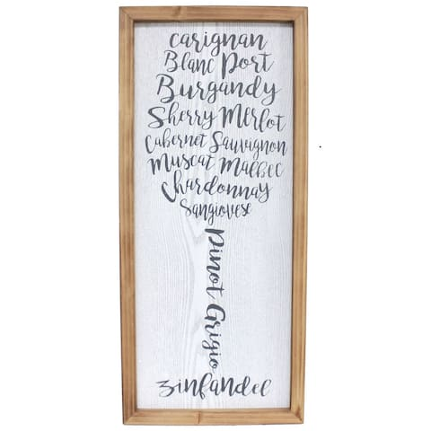 """Brewster U78504 Fetco 13"""" x 28-7/8"""" Lydell Wine Typography Food and - Silver"""