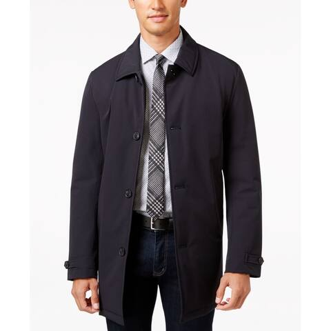 Calvin Klein Mens Jacket Black Size 44R Quilt Lined Water Repellent