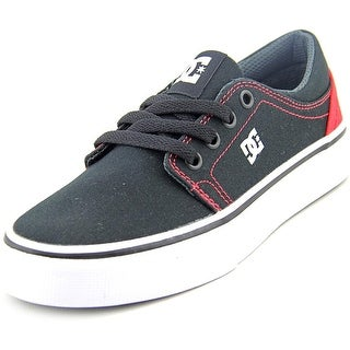DC Shoes Trase TX Youth Round Toe Canvas Black Skate Shoe