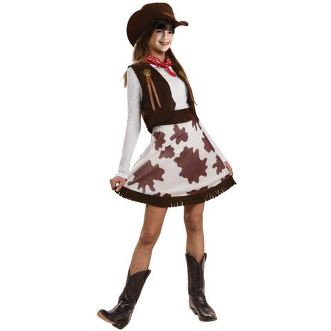 Forum Novelties Cowgirl Child Costume (S) - Brown/White - Small