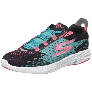 98f60c3af54b Shop Skechers Women s Go Run 5 Running Shoes Black Teal 9 B(M) US - Free  Shipping Today - Overstock.com - 18278934