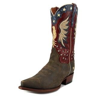 Dan Post Patriotic Bountiful Pointed Toe Leather Western Boot