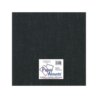 Fabric Sheet 12x12 Burlap Black 1pc
