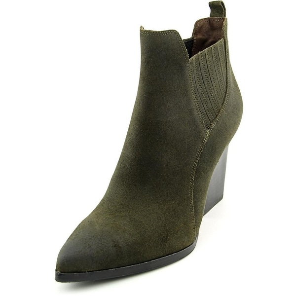 Donald J Pliner Vale Women  Pointed Toe Leather Green Ankle Boot
