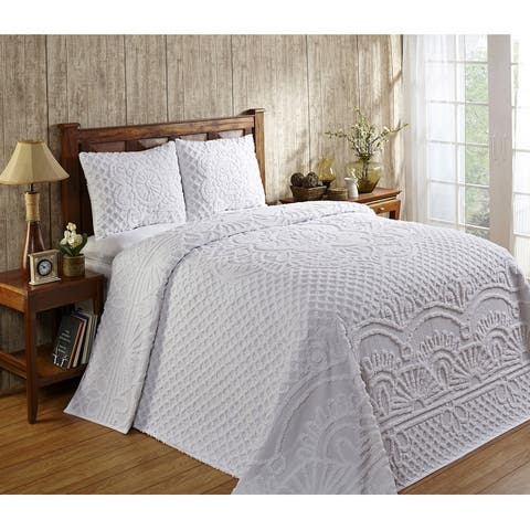 Better Trends Trevor Collection in Geometric Design 100% Cotton Tufted Chenille