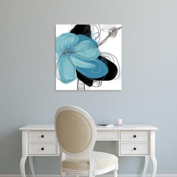 Easy Art Prints Jan Weiss's 'Azul Poetry 1' Premium Canvas Art