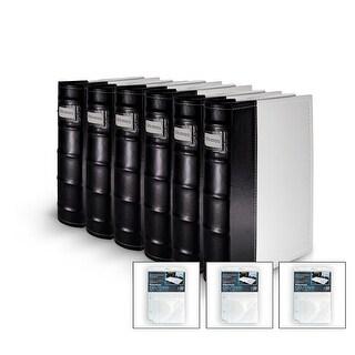 Bellagio-Italia DVD/CD Storage White DVD Binder 6-Pack with 3 Insert Sheets
