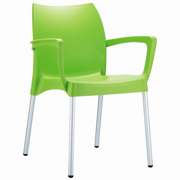 Dolce Stacking Dining Arm Chair [Set of 4] Finish: Apple Green