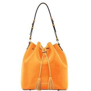 Dooney & Bourke Siena Large Serena (Introduced by Dooney & Bourke at $298 in Mar 2014) - orange hot pink