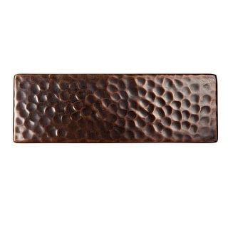 """The Copper Factory CF145  6 x 2 x 1/4"""" Solid Hammered Copper 6""""x2"""" Decorative Accent Tile"""