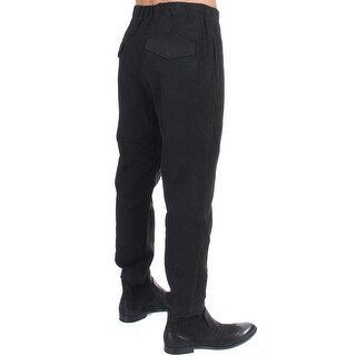 Costume National Costume National Black cotton stretch waist casual pants