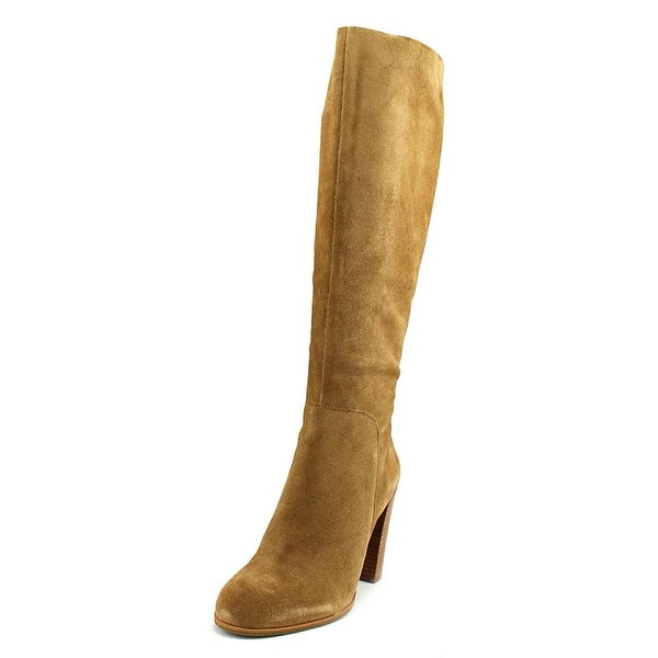 Kenneth Cole NY Justin Women Round Toe Suede Tan Knee High Boot