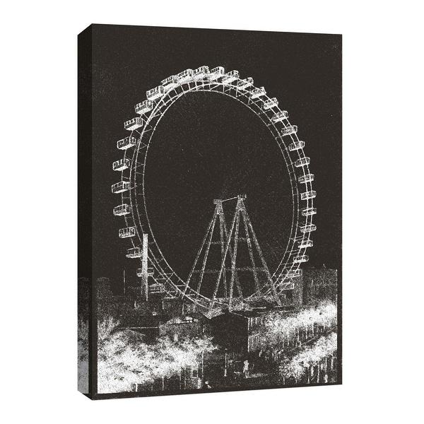 """PTM Images 9-126737 PTM Canvas Collection 8"""" x 10"""" - """"La Grande Roue De Paris II"""" Giclee Carnivals & Fairs Art Print on Canvas"""