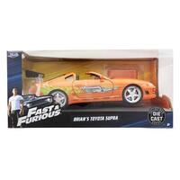 Fast & Furious 1:24 Diecast Vehicle: Brian's Toyota Supra, Orange - Multi