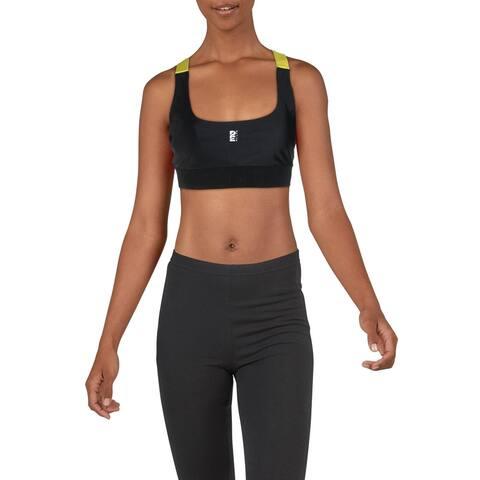P.E Nation Womens Sports Bra Fitness Running - Black - L