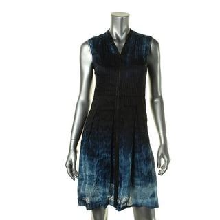 Elie Tahari Womens Emma Linen/Silk Printed Party Dress - 8