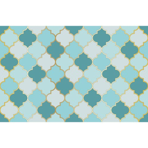 Turkish Mosque Mosaic Removable Wallpaper - 10'ft H x 24''inch W