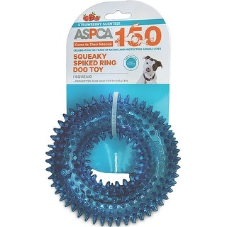 ASPCA Squeaky Spiked Ring Dog Toy-Blue - Blue