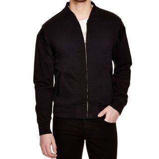 CHAMPION NEW Black Mens Size Small S Pleather-Piece Full Zip Sweater