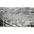 Statements2000 Silver Modern Etched Metal Wall Art Sculpture by Jon Allen - Ripple Effect - Thumbnail 2