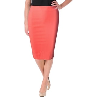 Elizabeth and James Womens Lined Back Slit Straight Skirt