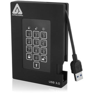 """""""Apricorn A25-3PL256-500F Apricorn Aegis Padlock A25-3PL256-500F 500 GB External Hard Drive - USB 3.0 - 5400 - 8 MB Buffer -"""