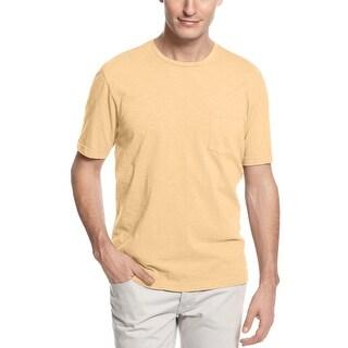 Tasso Elba Island T-Shirt Wheat Gold Crewneck Soft Cotton Tee Shirt