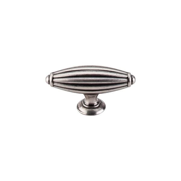 """Top Knobs M153 T-Handle 2-3/4"""" Long Bar Cabinet Knob from the Tuscany Series - pewter antique"""
