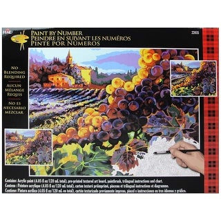 Plaid Paint By Number 20x16 Tuscan Harvest