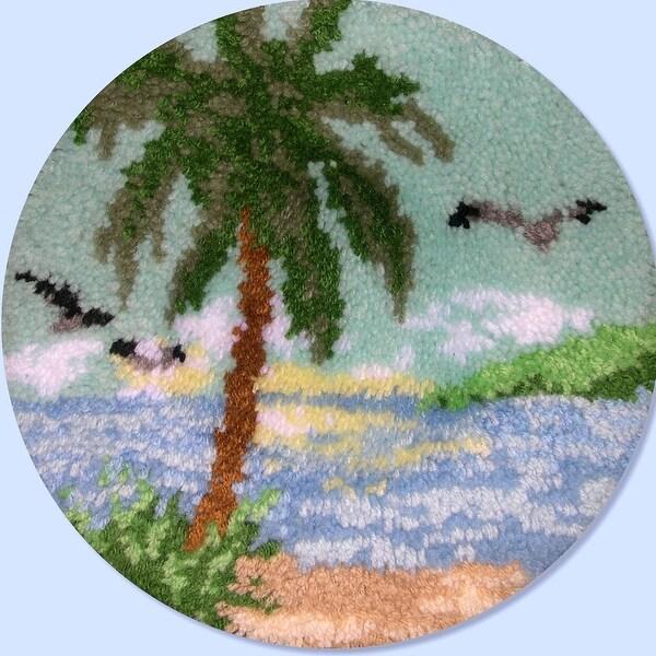 "Latch Hook Kit 18"" Round-Palm Tree"