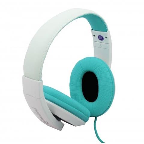 Over the Ear Stereo Wired Headphone - aqua