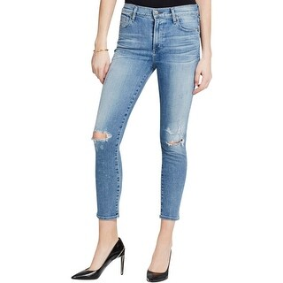 Citizens of Humanity Womens Skinny Crop Jeans Denim Destoryed