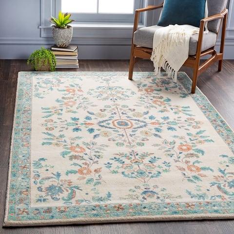 Arrietty Vintage Floral Printed Area Rug