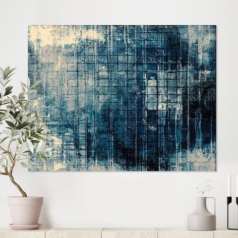 Designart 'Grunge background' Modern Canvas Wall Art