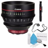 Canon CN-E 85mm T1.3 L F Cine Lens (International Model) + Deluxe Cleaning Kit + Lens Cap Keeper Bundle (AF6CANCNE8513LFB4)