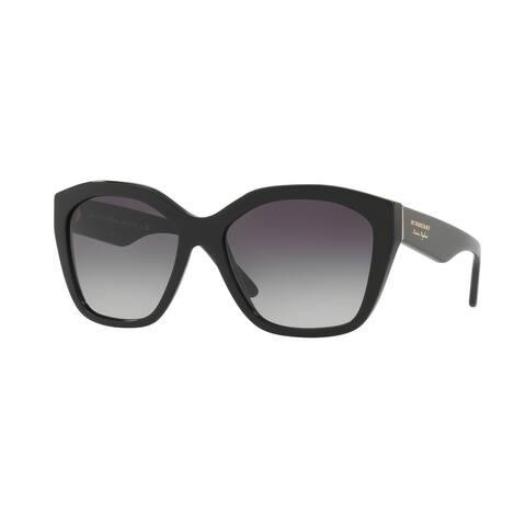 Burberry Irregular BE4261F WoMens BLACK Frame GRAY GRADIENT Lens Sunglasses
