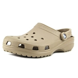 Crocs Classic Men  Round Toe Synthetic Tan Clogs