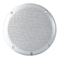 """PolyPlanar 6"""" Dual Cone Integral Grill Speaker, Pair - White"""