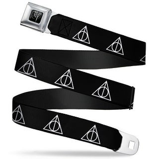 Harry Potter Logo Full Color Black White Harry Potter Deathly Hallows Seatbelt Belt