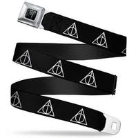 Harry Potter Logo Full Color Black White Harry Potter Deathly Hallows Seatbelt Belt